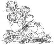 Printable thanksgiving harvest s726c coloring pages