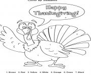 Printable turkey thanksgiving s with numberse9ea coloring pages