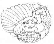 Printable kid and turkey s printable thanksgiving0dda coloring pages