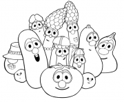 Printable veggie tales thanksgiving s0e35 coloring pages