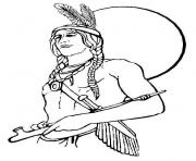 thanksgiving s of native americans of indian men01ca coloring pages