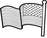 Print american flag for kids coloring pages