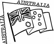 Printable preschool australian flag coloring pages