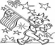 Print american flag fourth of july coloring pages