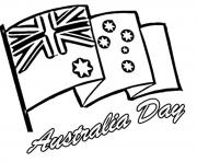 australian flag  preschool coloring pages