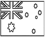 Print australian flag ad3d coloring pages