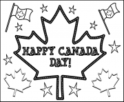 Print happy canada day coloring pages