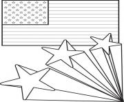 Print american flag 4th of july coloring pages