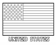 American Flag United States Coloring Pages