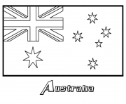 australian flag  printable coloring pages