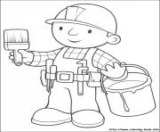Print Bob the builder 30 coloring pages
