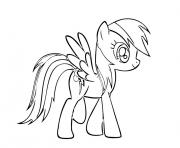 Printable rainbow dash 1 coloring pages