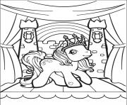 Printable rainbow my little pony kingdom coloring pages