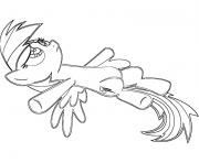 Printable little rainbow dash sleeping coloring pages