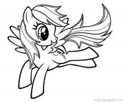 Printable rainbow dash fly 2 coloring pages