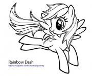 Printable rainbow dash fly coloring pages