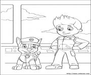 Printable paw patrol chase and ryder coloring pages