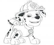 Printable paw patrol marshall draw coloring pages