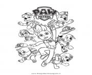 Printable paw patrol ryder and the dogs coloring pages