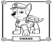 Printable paw patrol chase coloring pages