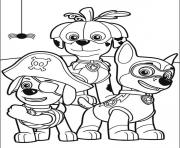Printable paw patrol halloween coloring pages