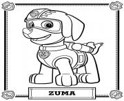 Printable paw patrol zuma coloring pages