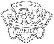 Printable paw patrol logo coloring pages