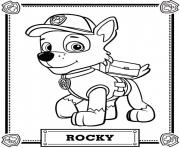 Printable Paw Patrol Rocky Coloring Pages