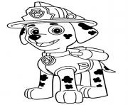 Printable paw patrol marshall is happy coloring pages