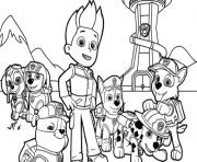 Printable paw patrol team coloring pages