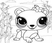 Littlest pet shop coloring pages color online free printable for Littlest pet shop coloring pages panda
