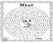 Printable maze game coloring pages