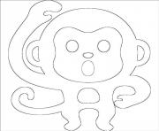 Printable emoji monkey emoticon coloring pages