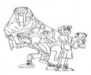 wild kratts Brother With A Seal coloring pages