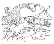 wild kratts The Safari coloring pages
