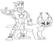 Print wild kratts martin and cougar coloring pages coloring pages