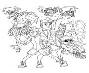 wild kratts The  coloring pages