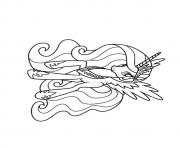 Printable A Princess Celestia my little pony coloring pages