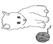 Print The a kitten playing with the barn kitten coloring pages
