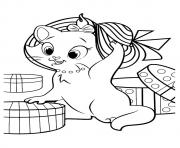Printable The marie kitten coloring pages