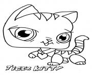 Print The tiger kitten coloring pages