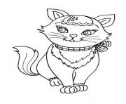 fashionable female cat animal sd5b3 coloring pages