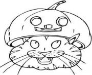 cat with pumpin head 2d89 coloring pages