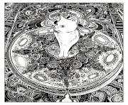 kitten cat on carpet coloring pages