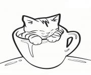cat in a mug e6ad coloring pages