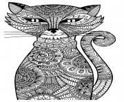 kitten adult cat coloring pages