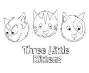 three faces of cat kittenf584 coloring pages