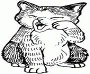 sleepy fat cat kitten5adc coloring pages
