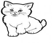 smiling cat animal kittensad78 coloring pages