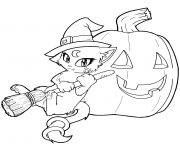 kitty cat free halloween s for kindergartenc4bf coloring pages